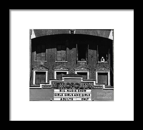 Theater Framed Print featuring the photograph Big Nudie Show by Erik Falkensteen