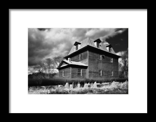 America Framed Print featuring the photograph Big Otter Mill Ca 1785 Bw by Steve Hurt