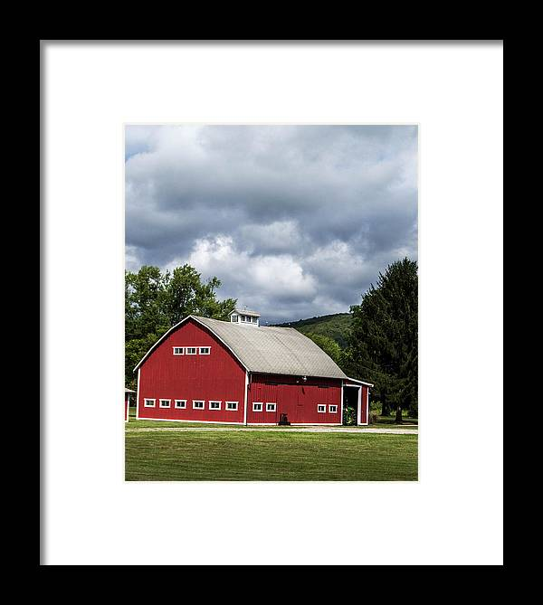 Barn Framed Print featuring the photograph Big Red Barn by Anthony Thomas