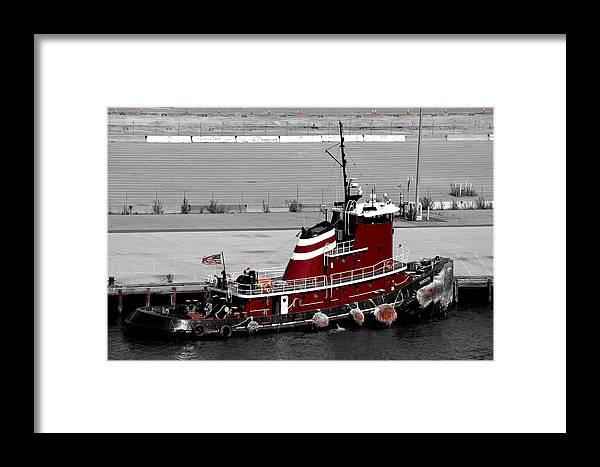 Digital Framed Print featuring the photograph Big Red by Richard Ortolano