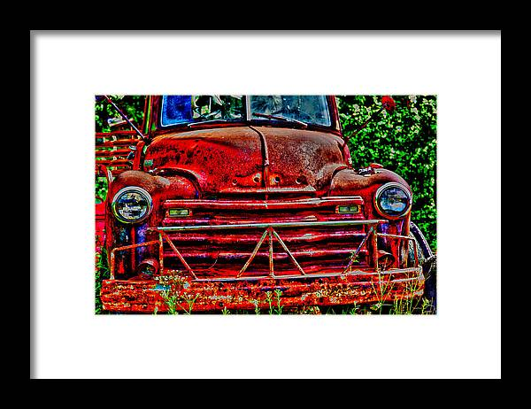 Truck Framed Print featuring the photograph Big Red by Toni Hopper