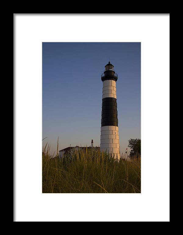 Lighthouse Framed Print featuring the photograph Big Sable by Megan Noble