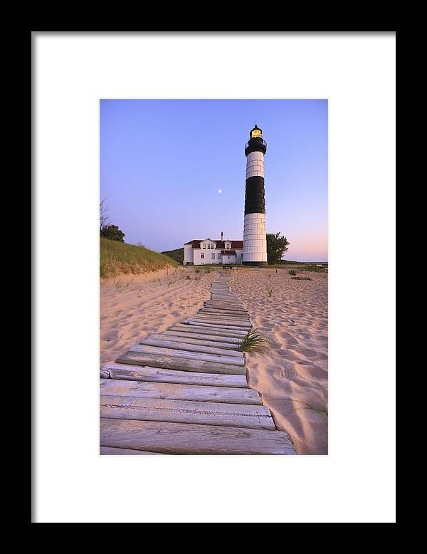 3scape Photos Framed Print featuring the photograph Big Sable Point Lighthouse by Adam Romanowicz