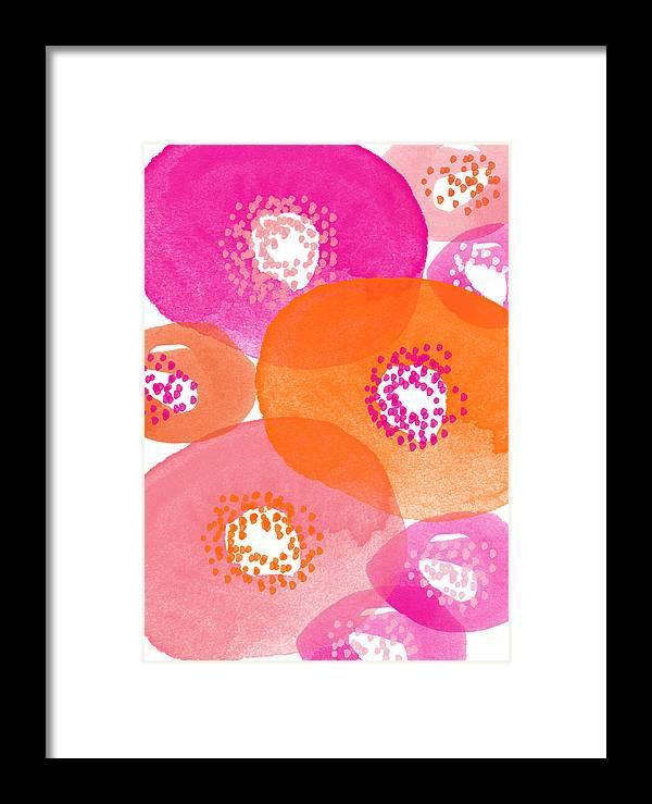 Big spring flowers contemporary watercolor painting framed print by flowers framed print featuring the painting big spring flowers contemporary watercolor painting by linda woods mightylinksfo