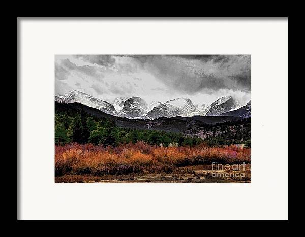 Rocky Mountain National Park Framed Print featuring the photograph Big Storm by Jon Burch Photography