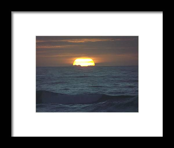 Framed Print featuring the photograph Big Sun by Randy Esson