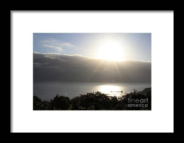 Sunset Framed Print featuring the photograph Big Sur Sunset by Linda Woods
