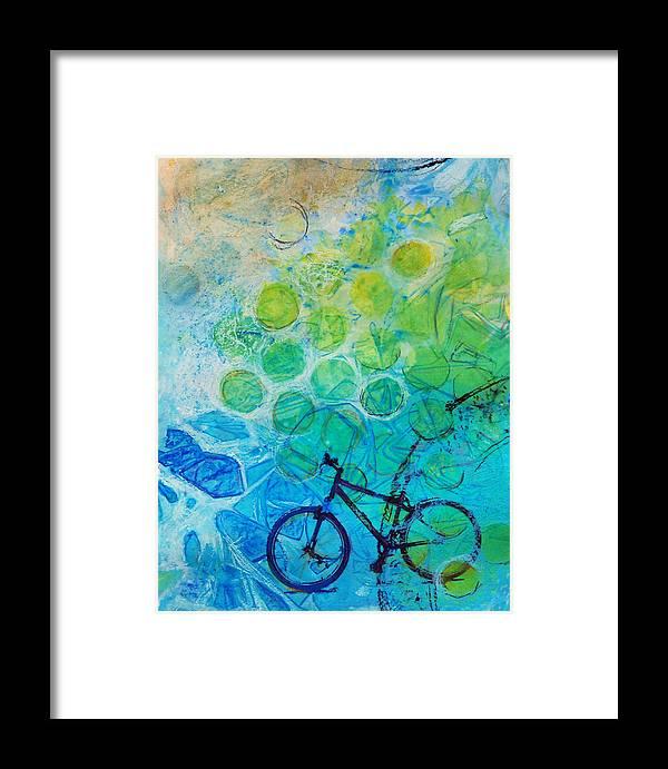 Bike Framed Print featuring the painting Bike by Arlissa Vaughn