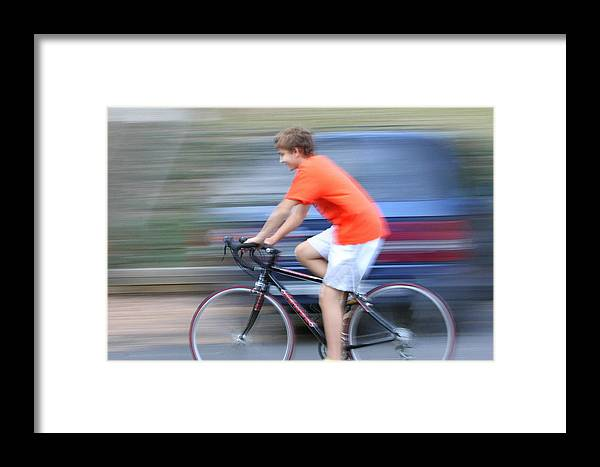 Bike Ride Framed Print featuring the photograph Bike Ride by Anne Barkley