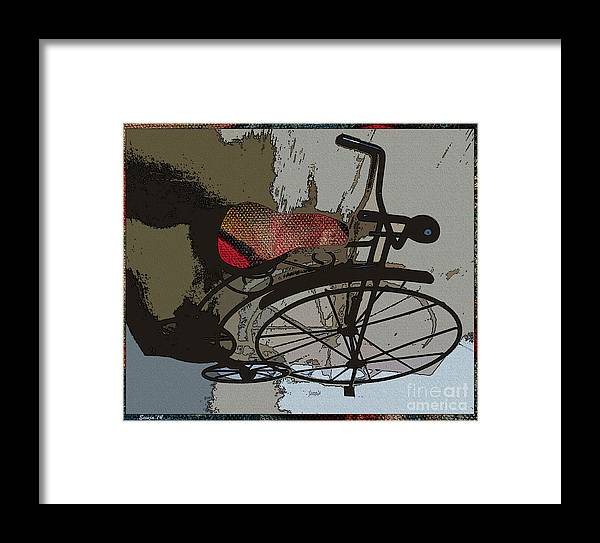 Bike Framed Print featuring the painting Bike Seat View by Ecinja