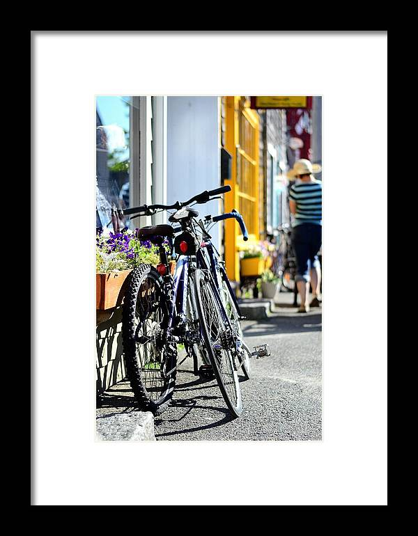 Framed Print featuring the photograph Bikes by Mithun Das