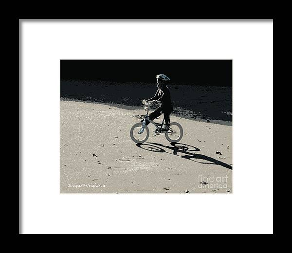 Biking Framed Print featuring the photograph Bikin' by Lainie Wrightson