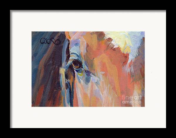 Thoroughbred Framed Print featuring the painting Billy by Kimberly Santini