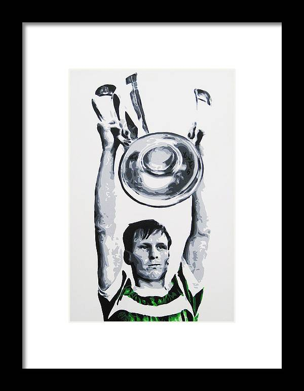Billy Mcneill Framed Print featuring the painting Billy Mcneill - Glasgow Celtic Fc by Geo Thomson