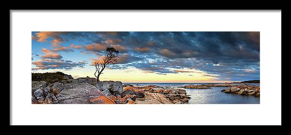 Scenics Framed Print featuring the photograph Binalong Bay by Bruce Hood