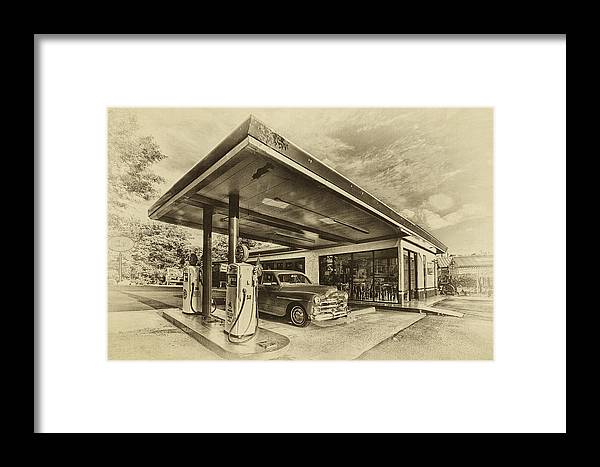 Bing's Burgers Framed Print featuring the photograph Bings Burgers by Priscilla Burgers
