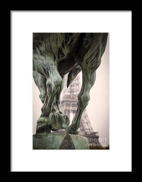 Bir Hakeim Framed Print featuring the photograph Bir Hakeim - Eiffel by Brian Jannsen