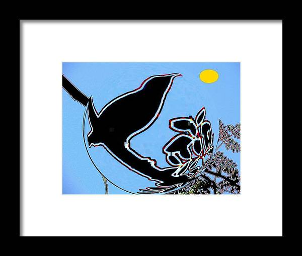 Bird And Sun Framed Print featuring the photograph Bird And Sun by Anand Swaroop Manchiraju