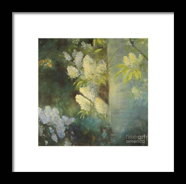 Fragrance Framed Print featuring the painting Bird Cherry by Seija Talolahti