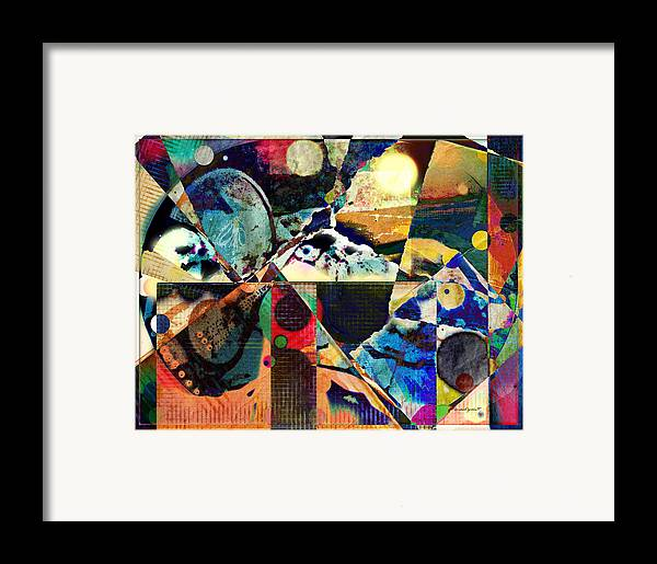 Birds Framed Print featuring the mixed media Birds And Music by YoMamaBird Rhonda