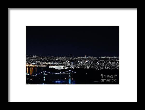 City Framed Print featuring the photograph Bird's Eye View Of Vancouver by Jeffrey Dadson