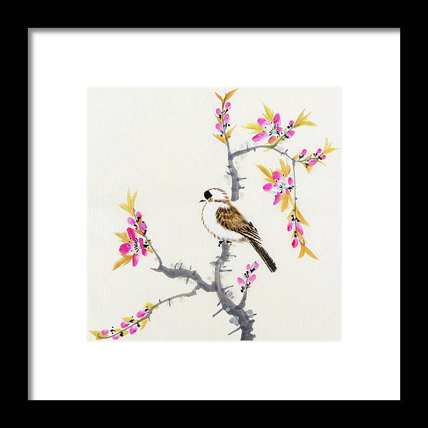 Chinese Culture Framed Print featuring the digital art Birds by Vii-photo