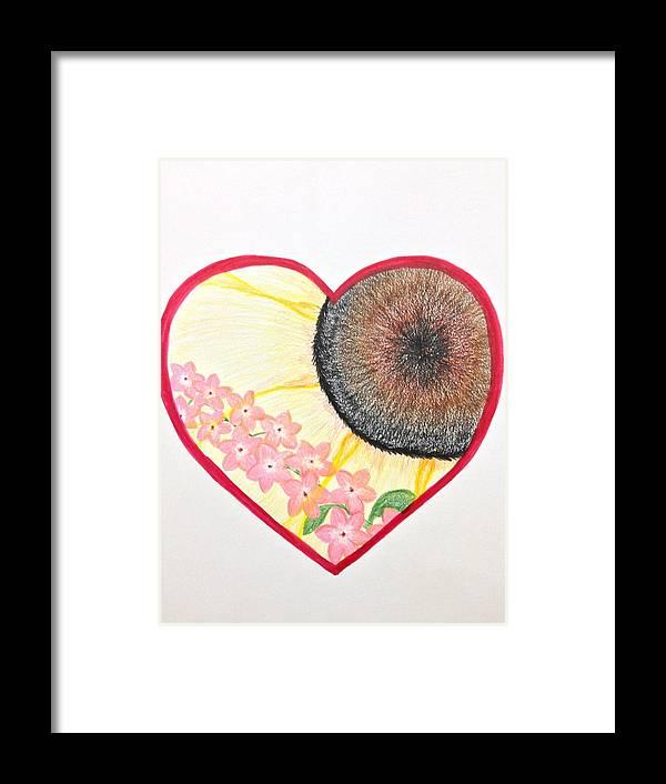 Heart Framed Print featuring the digital art Birthday Heartgarden 20140727 by Barbara Bellissimo