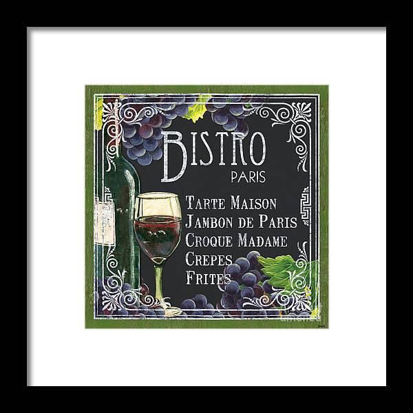 Bistro Framed Print featuring the painting Bistro Paris by Debbie DeWitt
