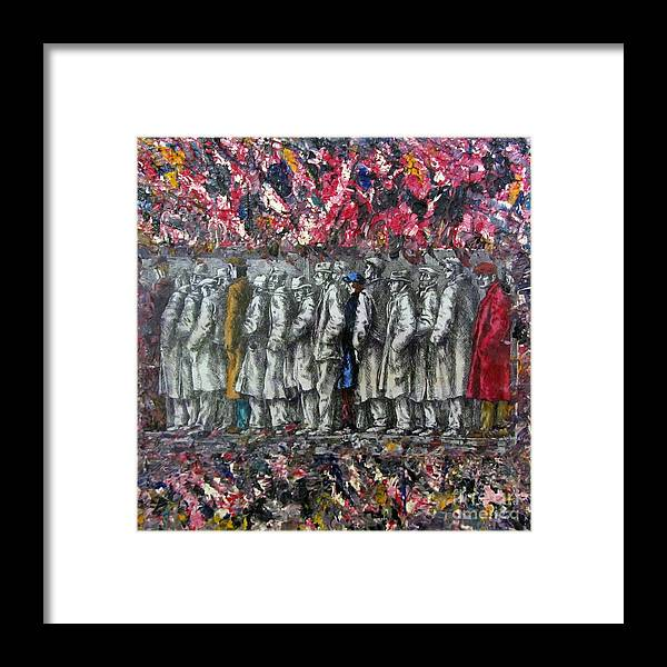 Colorful Framed Print featuring the mixed media Black And White by Jeanne Ward