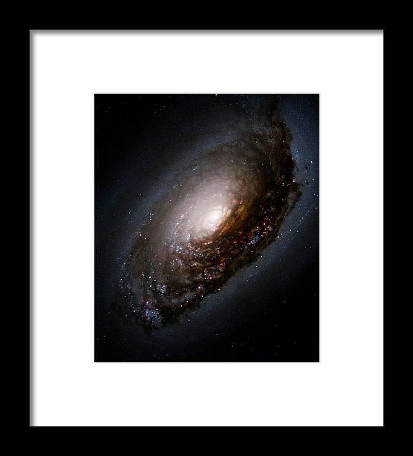 black Eye Galaxy Framed Print featuring the photograph Black Eye Galaxy M64 by Astronomy Gift Shop