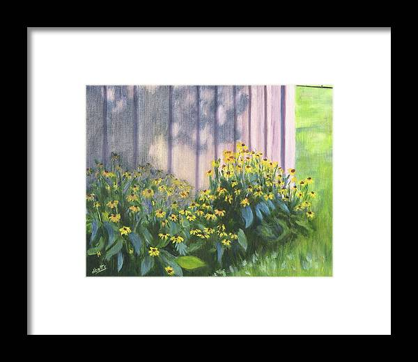 Flowers Framed Print featuring the painting Black Eyed Susans by Deborah Butts