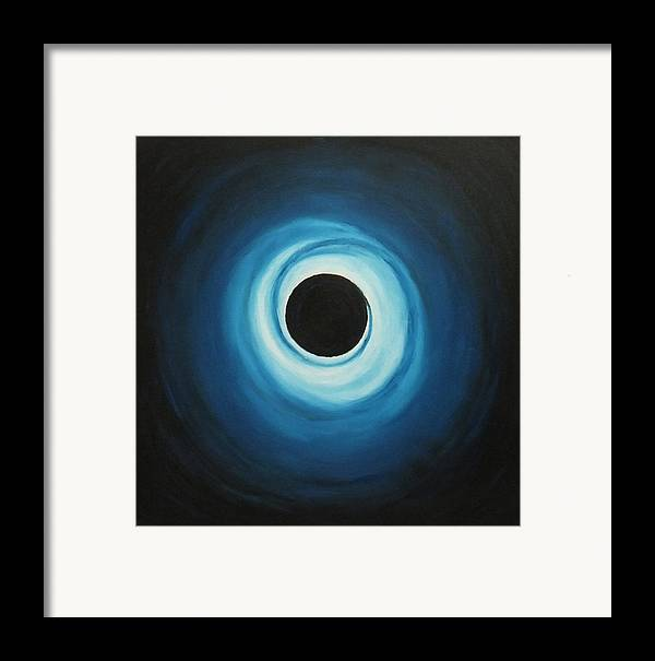 Oil On Canvas Framed Print featuring the painting Black Hole by Sven Fischer