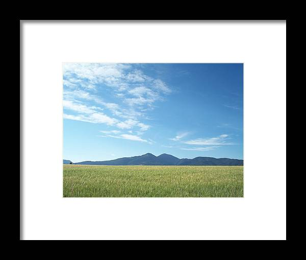 Landscape Framed Print featuring the photograph Black Mountain by Mary Davies