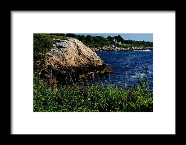 Landscape Framed Print featuring the photograph Black Point by Scott Cunningham