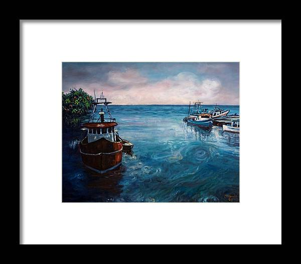 Black River Framed Print featuring the painting Black River 2 by Ewan McAnuff