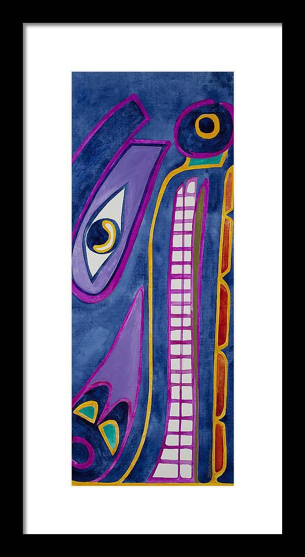 Blackfish Totem Alaska Alaskan Native Acrylic Framed Print featuring the painting Blackfish by Dawn Aumann