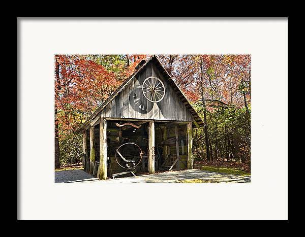 Antique Framed Print featuring the photograph Blacksmith Shop by Susan Leggett