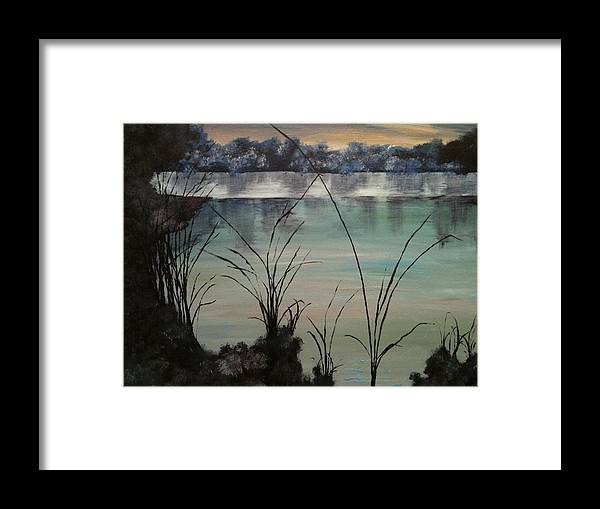 Landscape Framed Print featuring the painting Herrick Lake by Laura Inniger