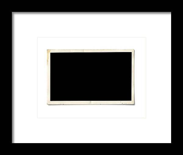 Shadow Framed Print featuring the photograph Blank photo paper by Tolga TEZCAN