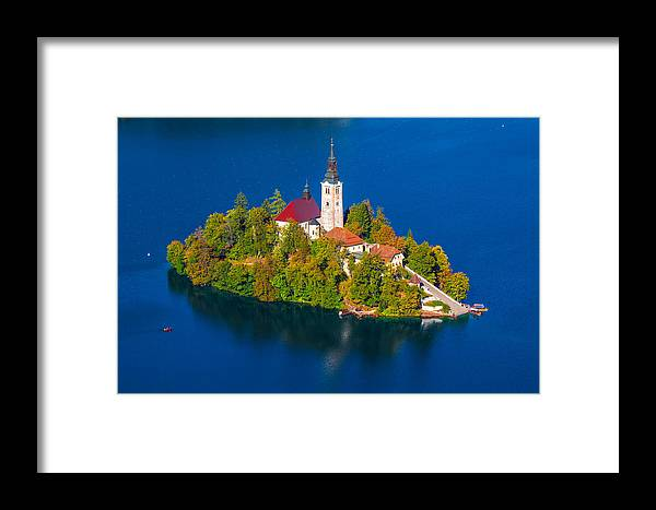 Bled Framed Print featuring the photograph Bled 03 by Tom Uhlenberg