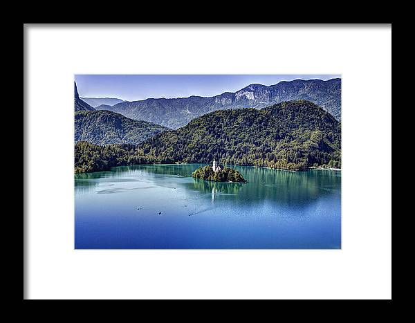 Alpine Framed Print featuring the photograph Bled Misty Island by Martin Joyful