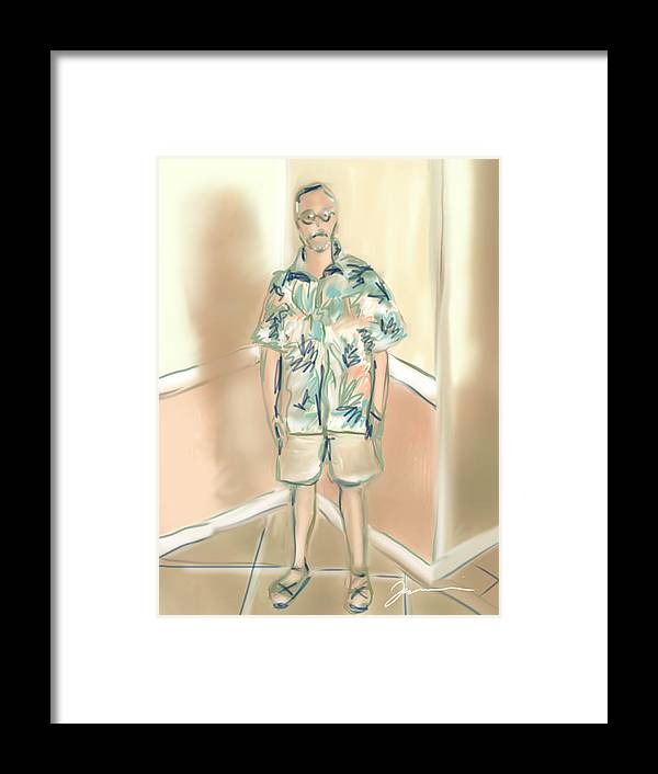 Man Framed Print featuring the painting Blended Man by Jean Pacheco Ravinski