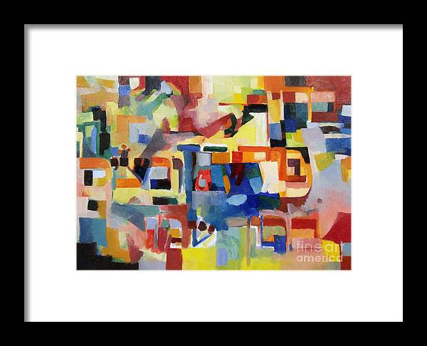 Creativity Framed Print featuring the painting Blessed Is He Who Redeems And Rescues 1 by David Baruch Wolk