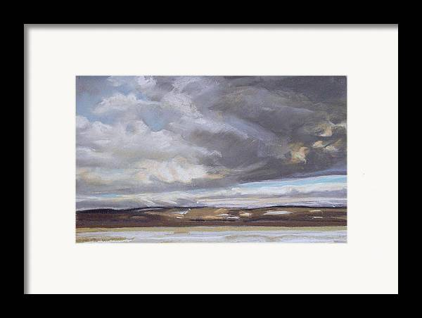 Maine Framed Print featuring the pastel Blessed Light by Grace Keown