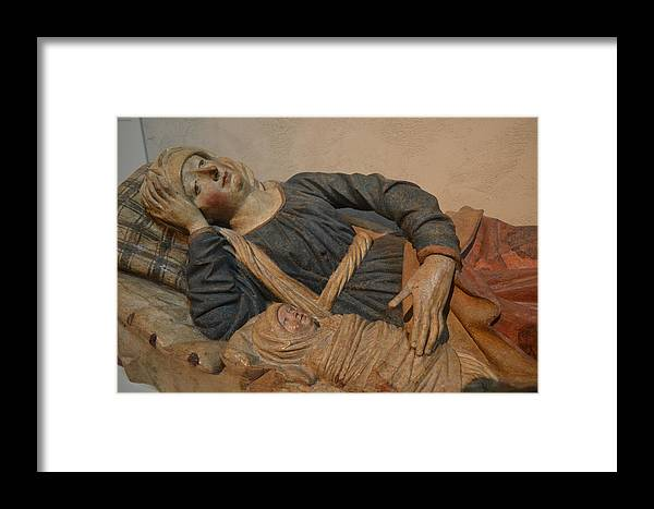 Mary Framed Print featuring the sculpture Blessed Virgin Mary by Philip Ralley