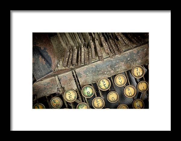 Blick 90 Framed Print featuring the photograph Blick 90 Typewriter by John Magyar Photography