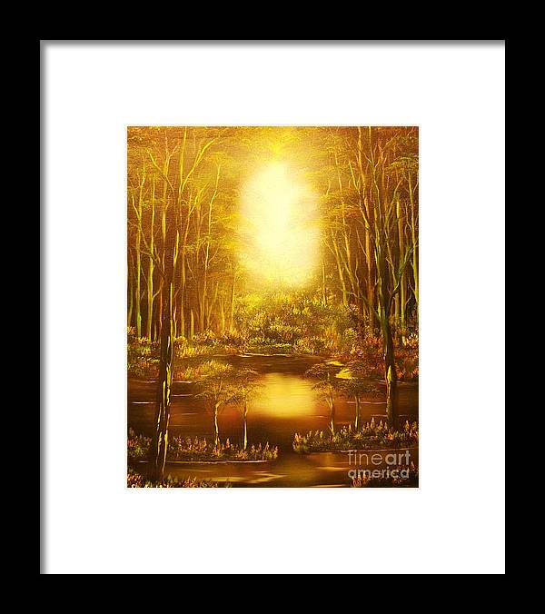 Landscape Framed Print featuring the painting Blinding Light-original Sold-buy Giclee Print Nr 36 Of Limited Edition Of 40 Prints  by Eddie Michael Beck