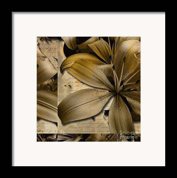 Framed Print featuring the mixed media Bliss II by Yanni Theodorou
