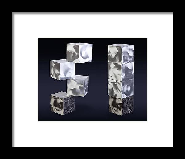 Abstract Framed Print featuring the sculpture Blocks by Rick Roth