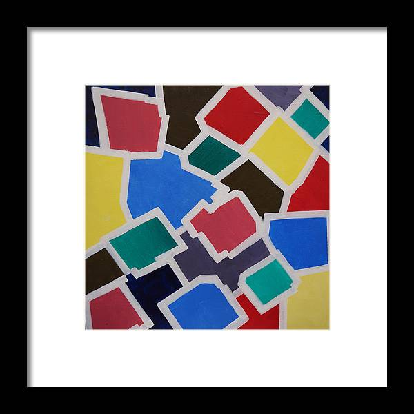 Acrylic Framed Print featuring the painting Outside the Box by Sergey Bezhinets